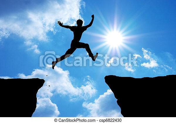 Man jump  - csp6822430