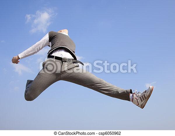 Man jump to sky. - csp6050962