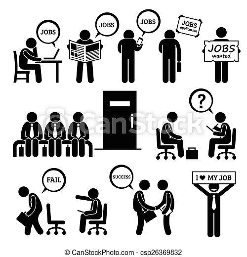 Man Looking Job Interview - csp26369832