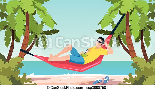 Man In Hammock Illustrations And Clipart 149 Royalty Free Drawings Graphics Available To Search From Thousands Of Vector