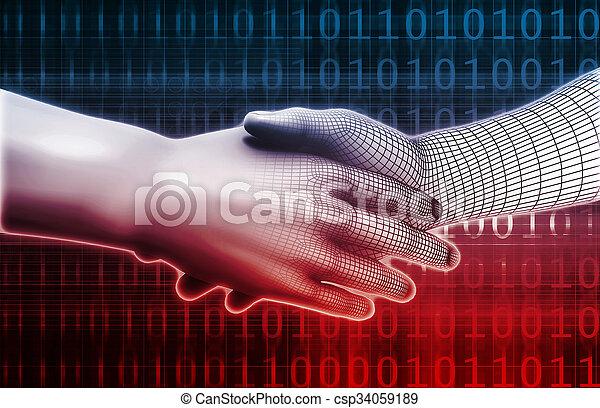 Man Machine Integration - csp34059189