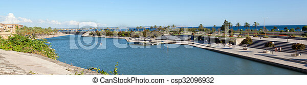 Man made lake at Palma de Mallorca - csp32096932