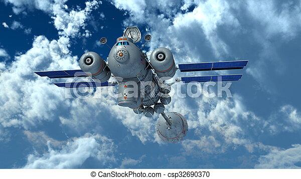 man-made satellite - csp32690370