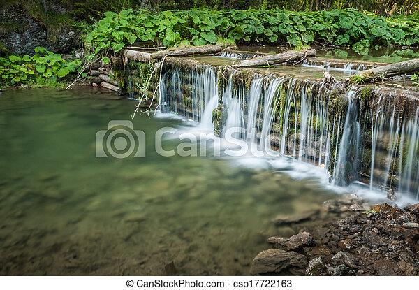 man made waterfall - csp17722163
