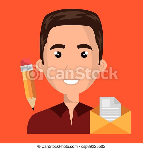 man message document icon - csp39225502