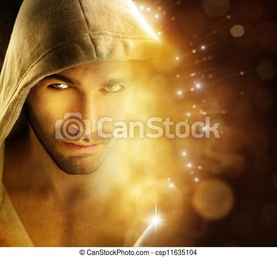 Man of light - csp11635104