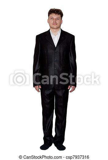 man on a white background - csp7937316