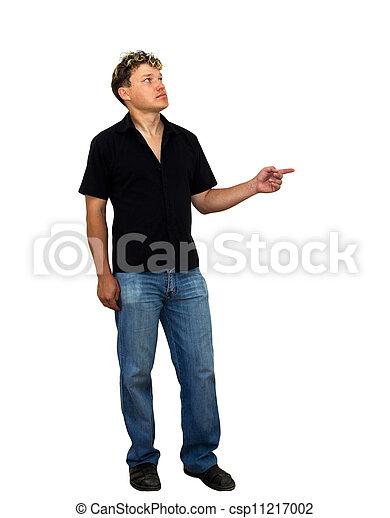 man on a white background - csp11217002