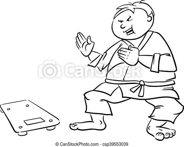 man on diet drawing - csp39553039
