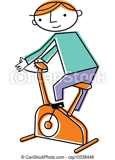 man on exercise bike drawing search clip art illustrations and eps rh canstockphoto com exercise clip art border exercise clip art black and white free