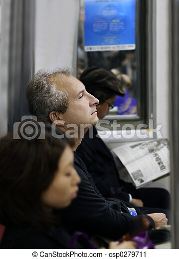 Man on the train - csp0279711