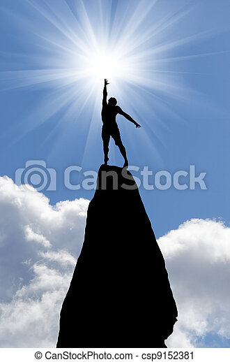 man on top - csp9152381