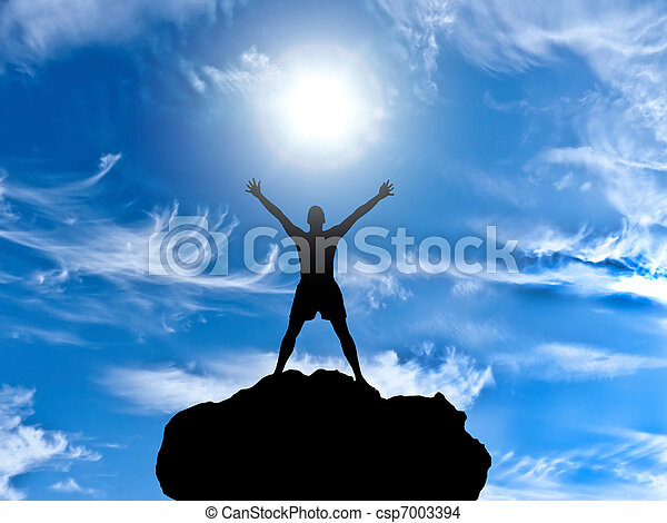 man on top - csp7003394