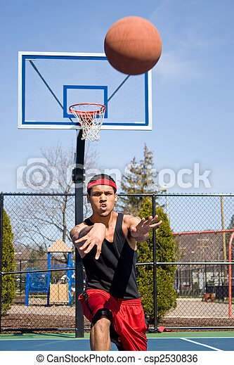 Man Passing the Basketball - csp2530836