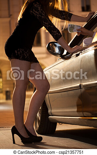 Man paying prostitute - csp21357751