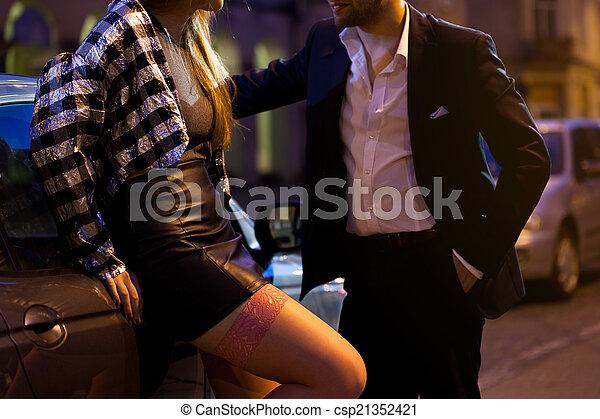 Man picking up a girl - csp21352421
