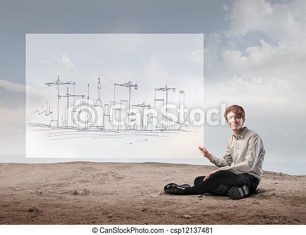 Man planning - csp12137481