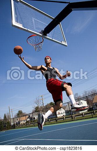 Man Playing Basketball - csp1823816