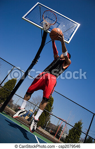 Man Playing Basketball - csp2079546