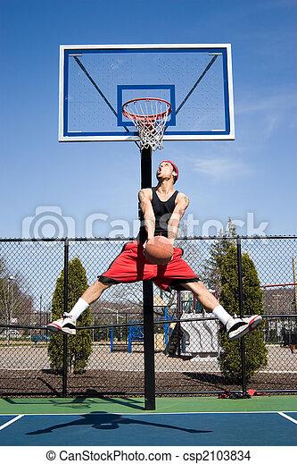 Man Playing Basketball - csp2103834