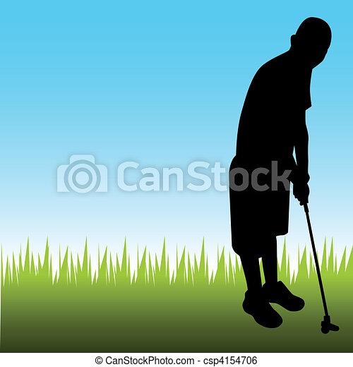 Man Playing Golf - csp4154706