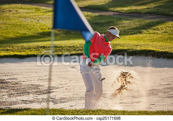 Man playing golf - csp25171698