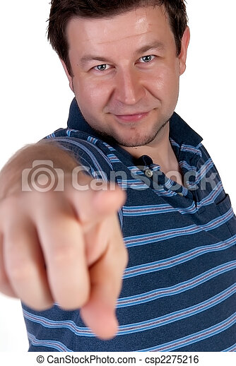 Man pointing a finger - csp2275216