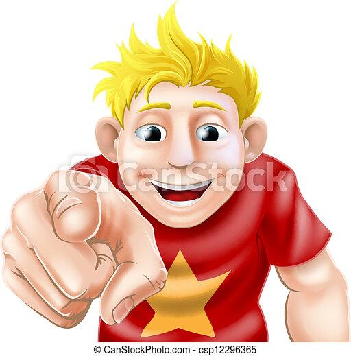 Man pointing at viewer - csp12296365