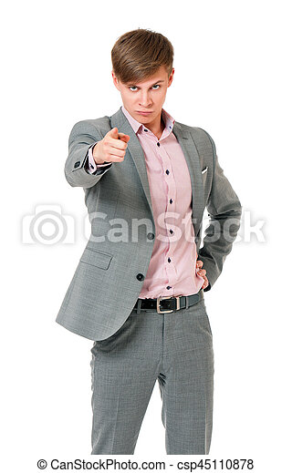 man pointing to you - csp45110878