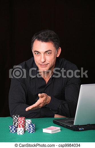 Man poker gambling on internet - csp9984034