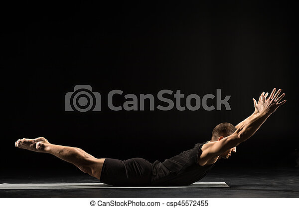 Man practicing yoga - csp45572455