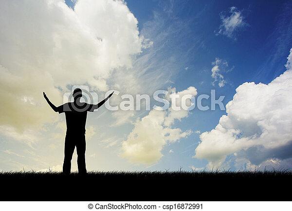 Man praising - csp16872991