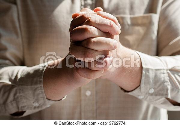 man praying - csp13762774
