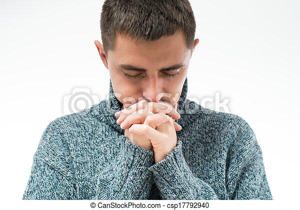 man praying - csp17792940