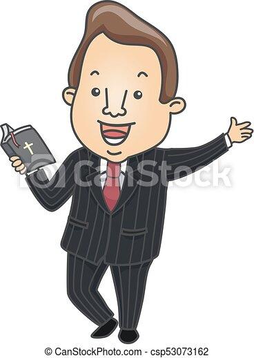 Man Preacher Bible Illustration