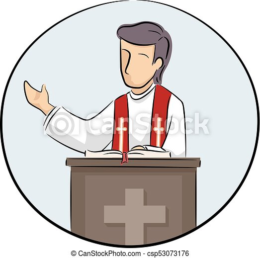 man priest preach illustration illustration of a priest vectors rh canstockphoto com clipart priest saying mass priest clipart free