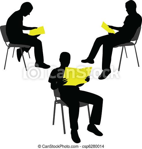 Man reading newspaper - csp6280014