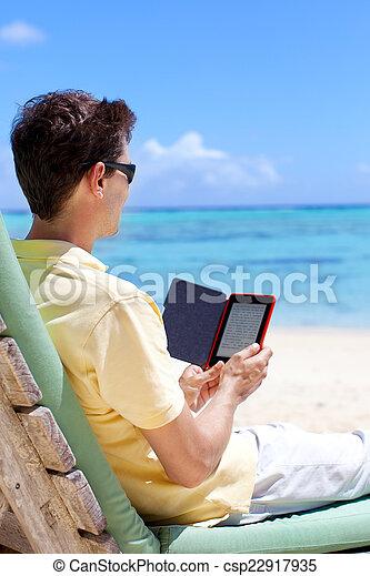 man reading - csp22917935