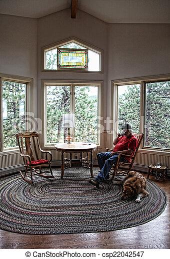Incredible Man Relaxing With Dog Frankydiablos Diy Chair Ideas Frankydiabloscom