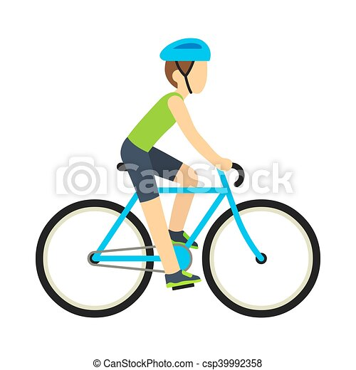 man riding bicycle young racing bicyclist man with bike clipart rh canstockphoto com vector bike free vector bike price