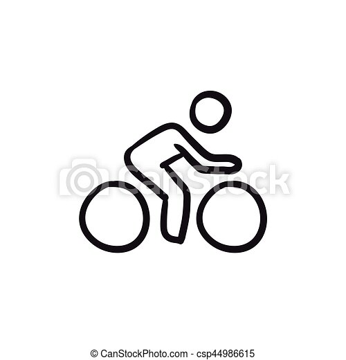 man riding bike sketch icon man riding bike vector sketch hand pointing right clipart hand pointing clipart black and white