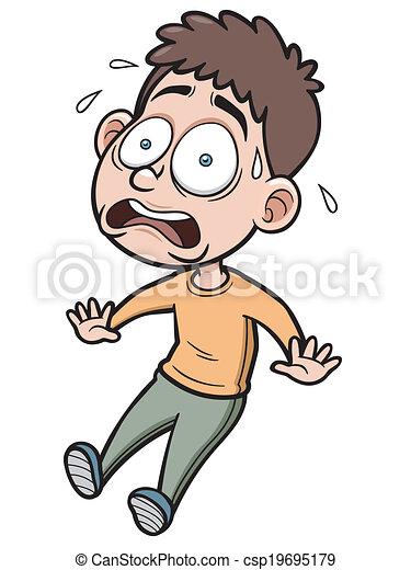 vector illustration of cartoon man scared rh canstockphoto com