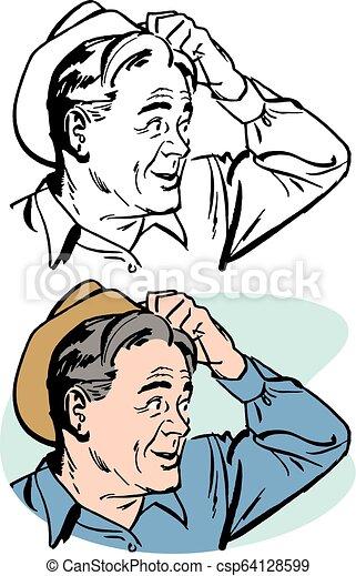muslim man scratching head