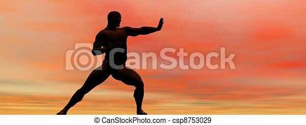 man self defence - csp8753029