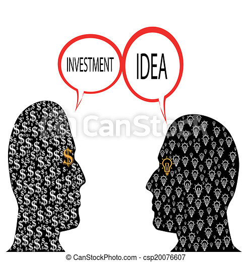 Business Concept Buy And Sell Ideas Man Selling Idea
