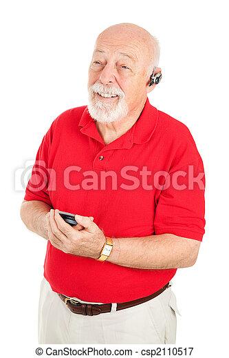 man, senior, bevrijden, handen - csp2110517