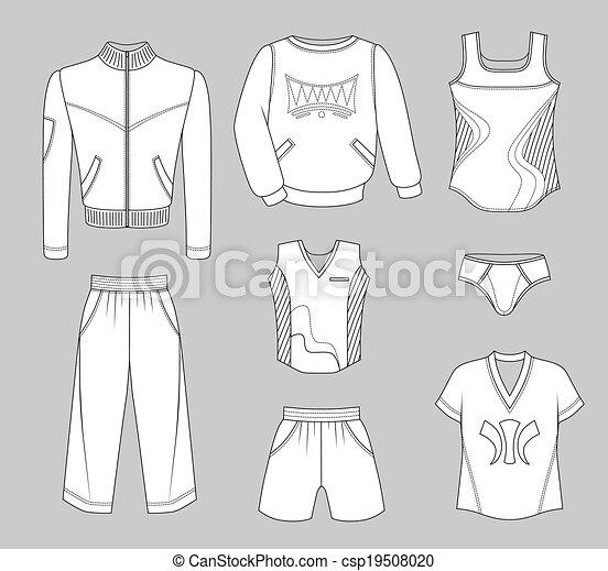 Man set tricot clothes - csp19508020