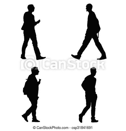 man set vector silhouette - csp31841691