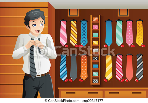 Man shopping for a tie - csp22347177