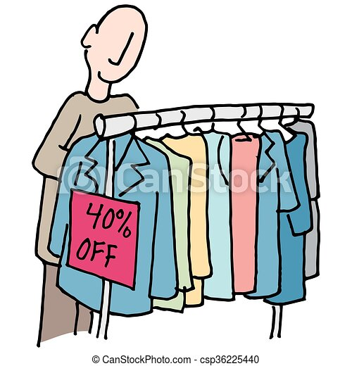an image of a man shopping for clothes eps vector search clip art rh canstockphoto com free shopping clipart images shopping trolley clipart free